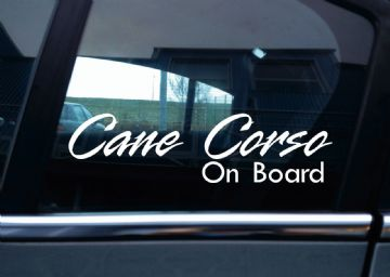2x Cane Corso On Board dog in car fancy warning STICKERS | Aufkleber | Pegatina | autocollant
